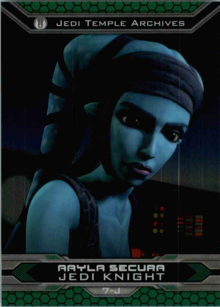 2015 Topps Chrome Star Wars Jedi Temple Archives Aayla Secura #7-J card front image