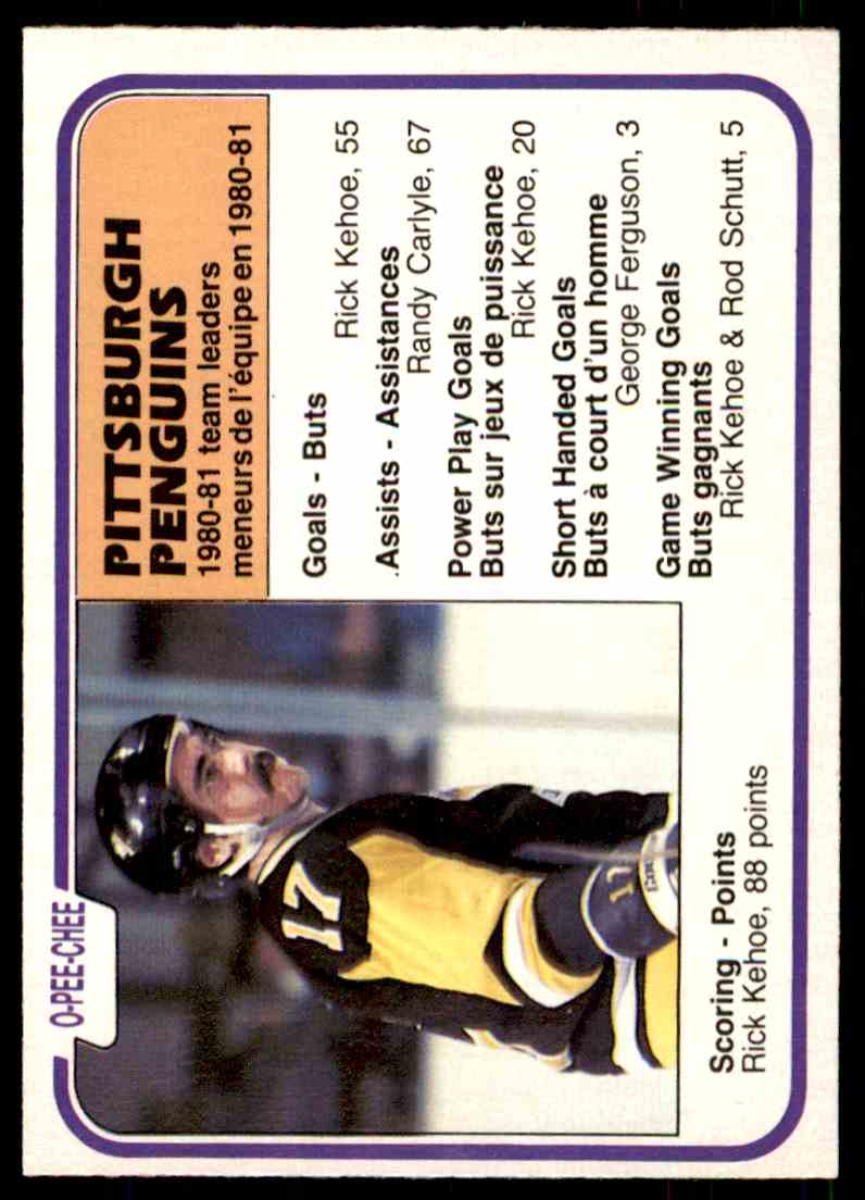 1981-82 O-Pee-Chee Pittsburgh Penguins #267 card front image