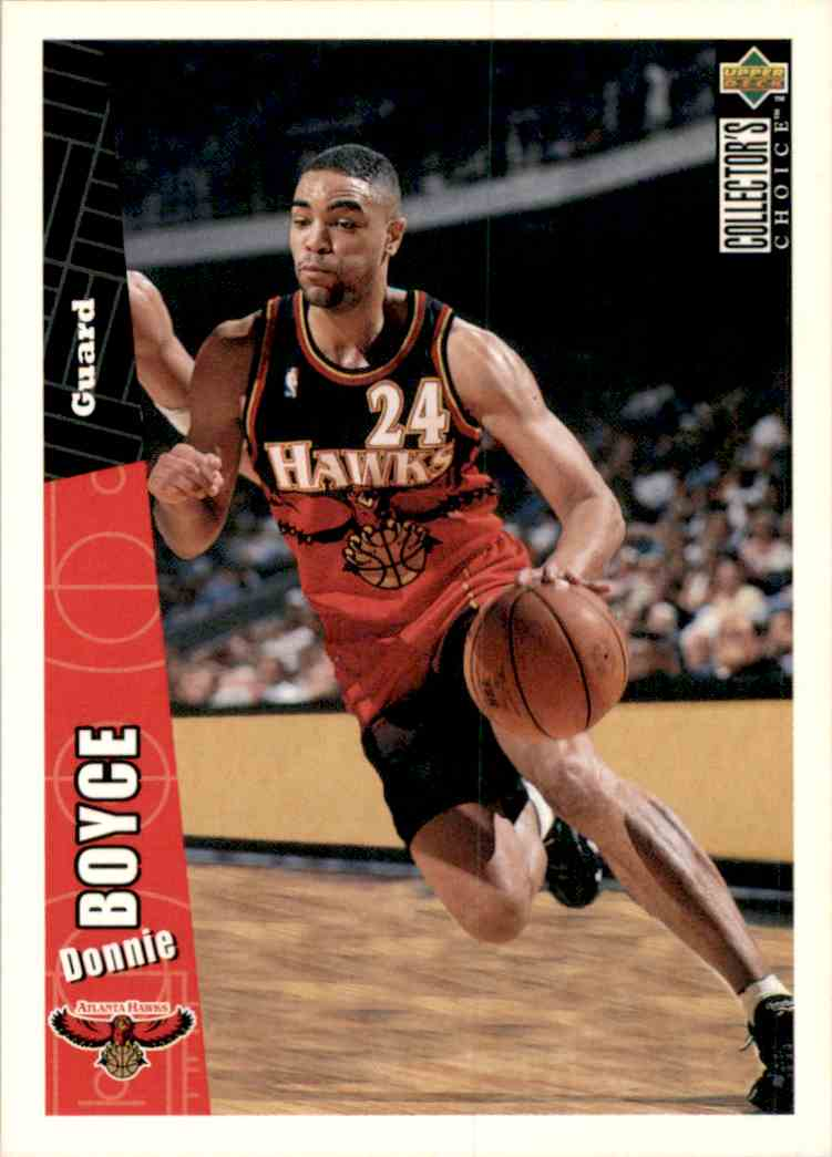 1996-97 Collector's Choice Donnie Boyce #203 card front image