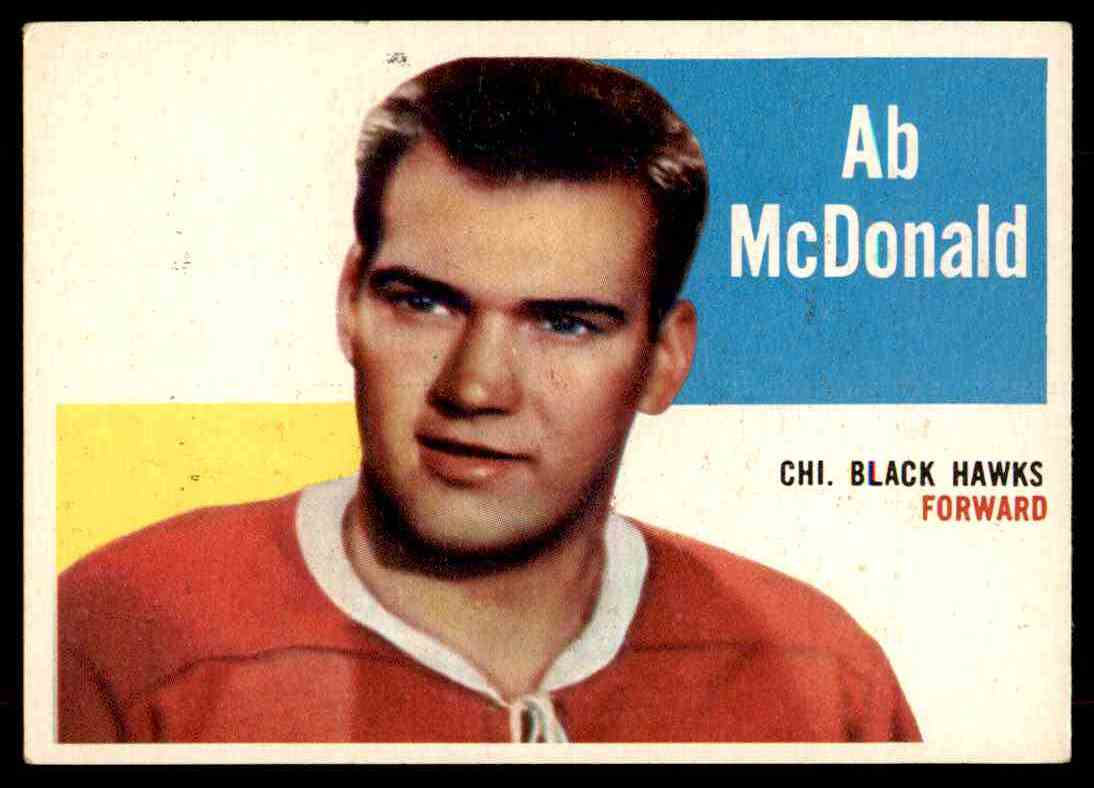 1960-61 Topps Ab McDonald #33 card front image