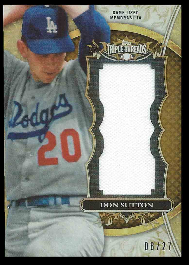 2013 Topps Triple Threads Don Sutton #TTUJRDS1 card front image