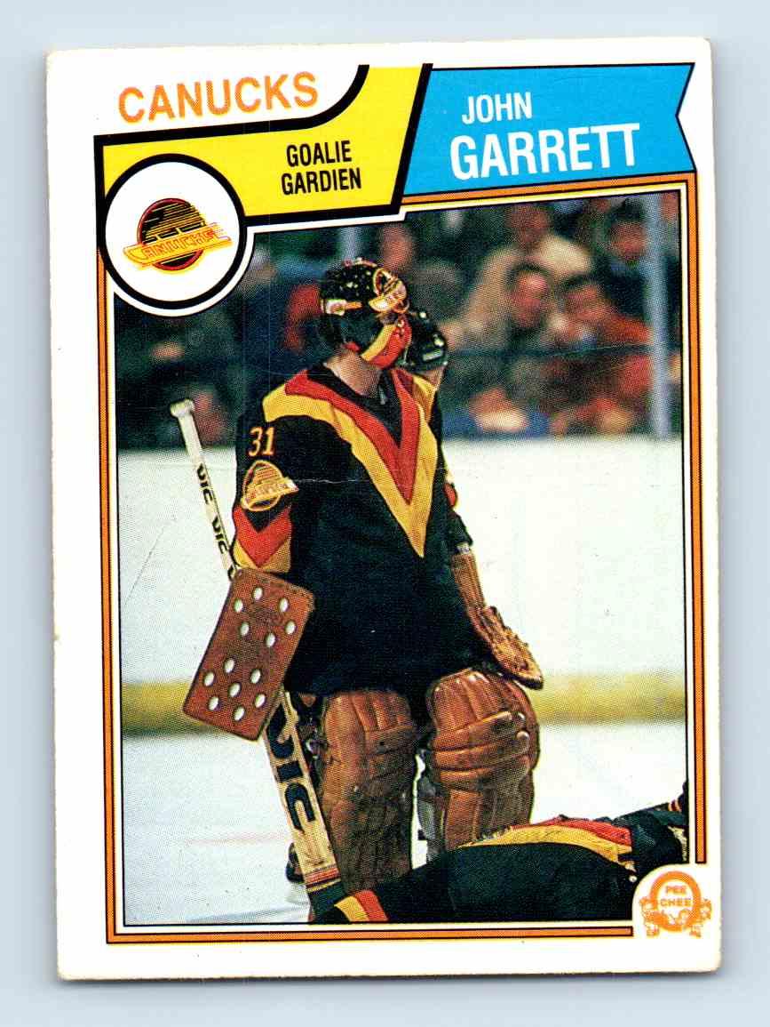 1983-84 O-Pee-Chee John Garrett #349 card front image