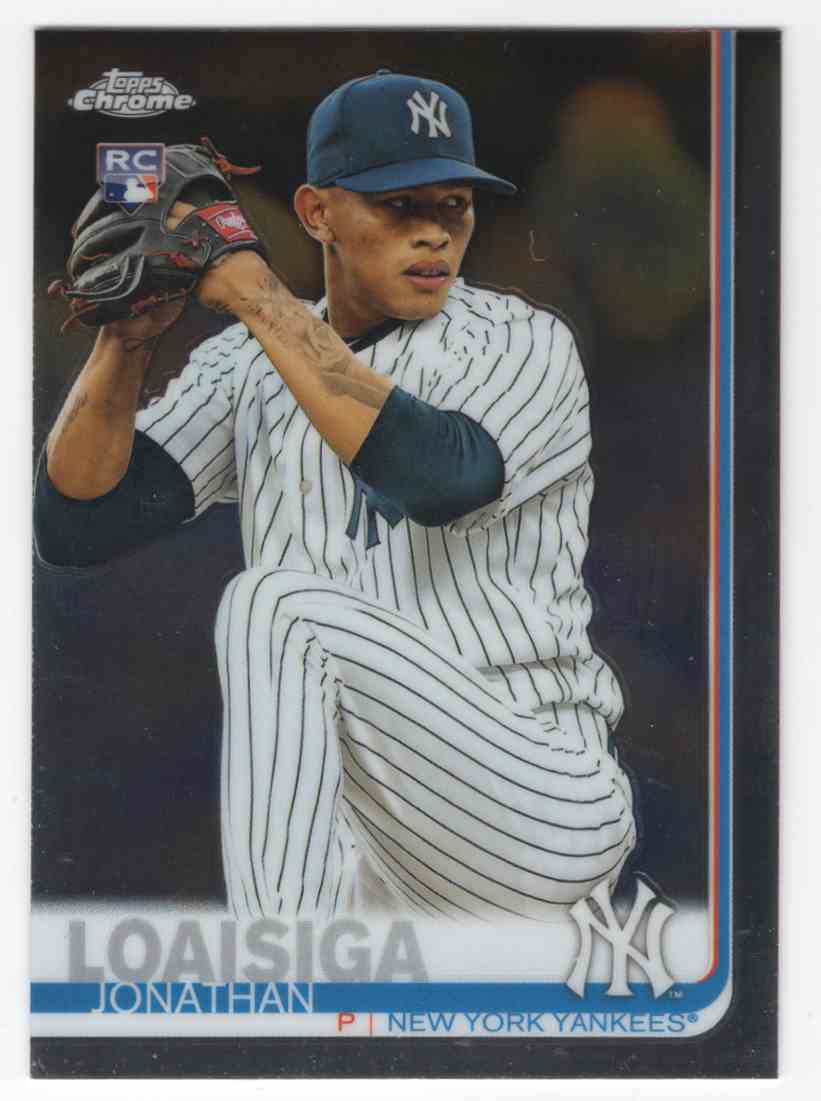 2019 Topps Chrome Jonathan Loaisiga #168 card front image