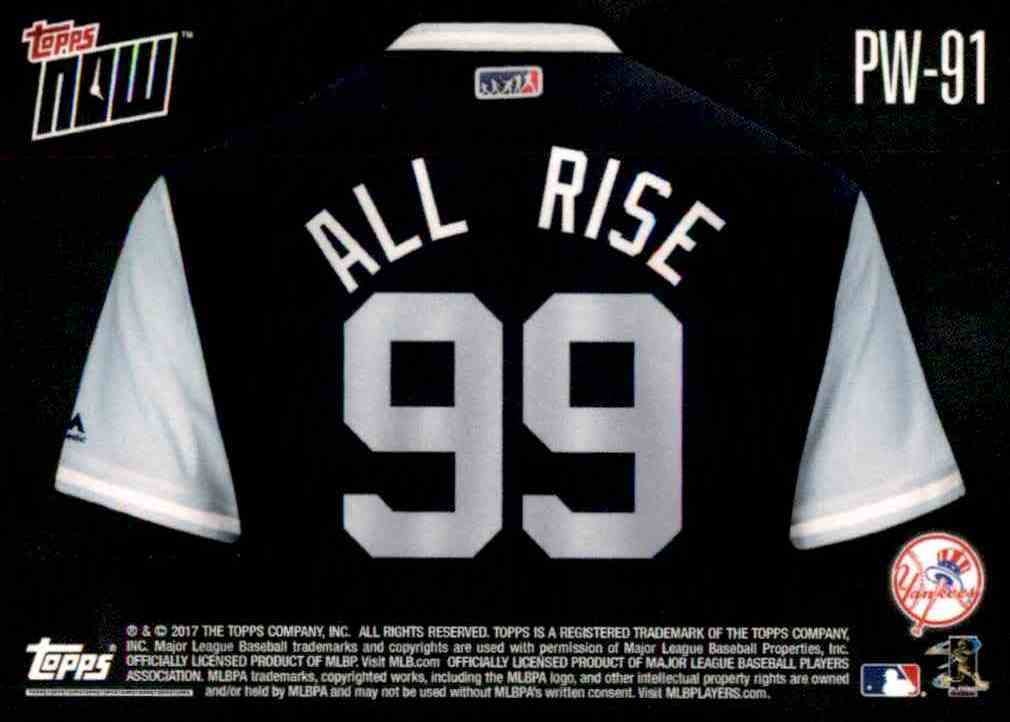 b4daed933b5 Real card back image 2017 Topps Now Players Weekend All Rise - Aaron Judge   91 card back image