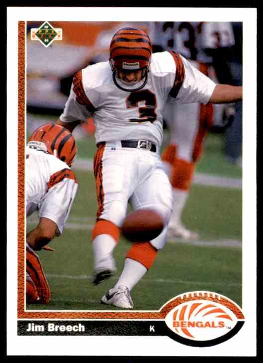 1991 Upper Deck Jim Breech #202 card front image