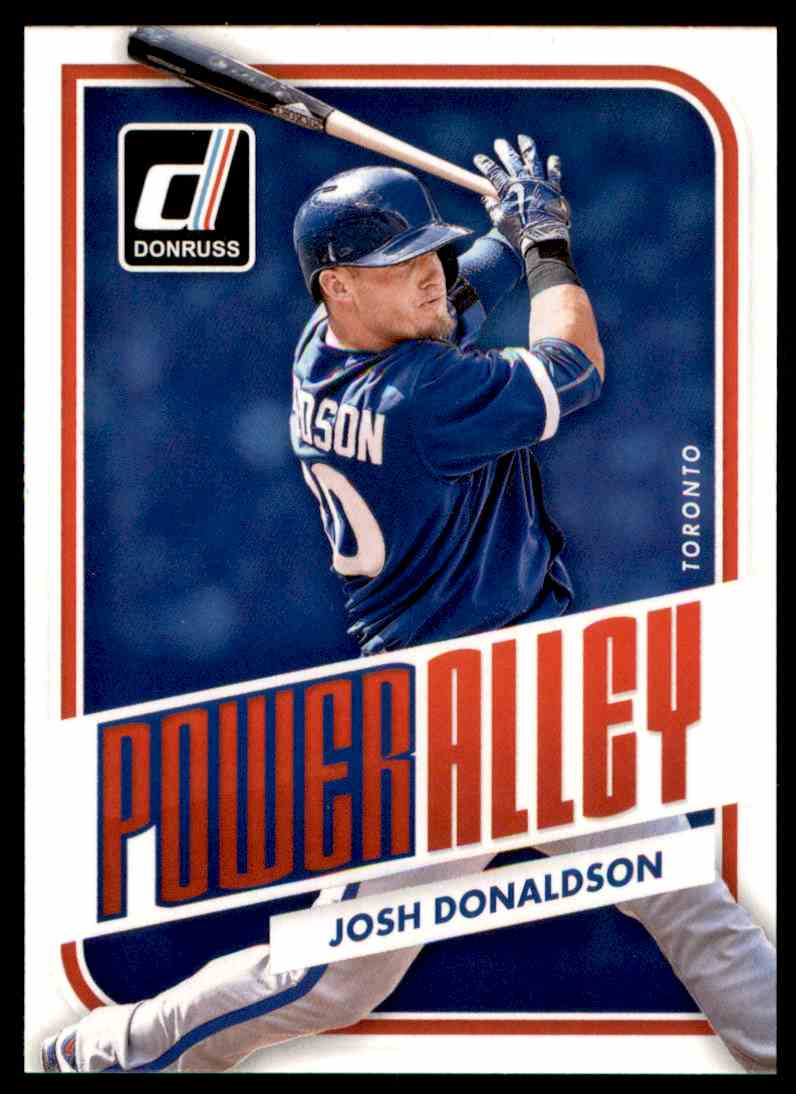 2016 Donruss Power Alley Josh Donaldson #PA3 card front image