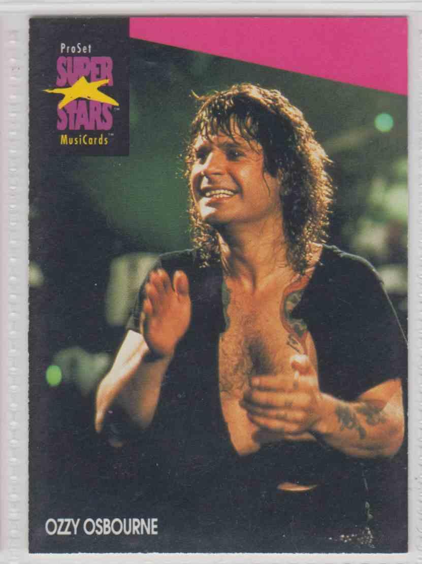 1991 Pro Set SuperStars MusiCards Ozzy Osbourne #215 card front image