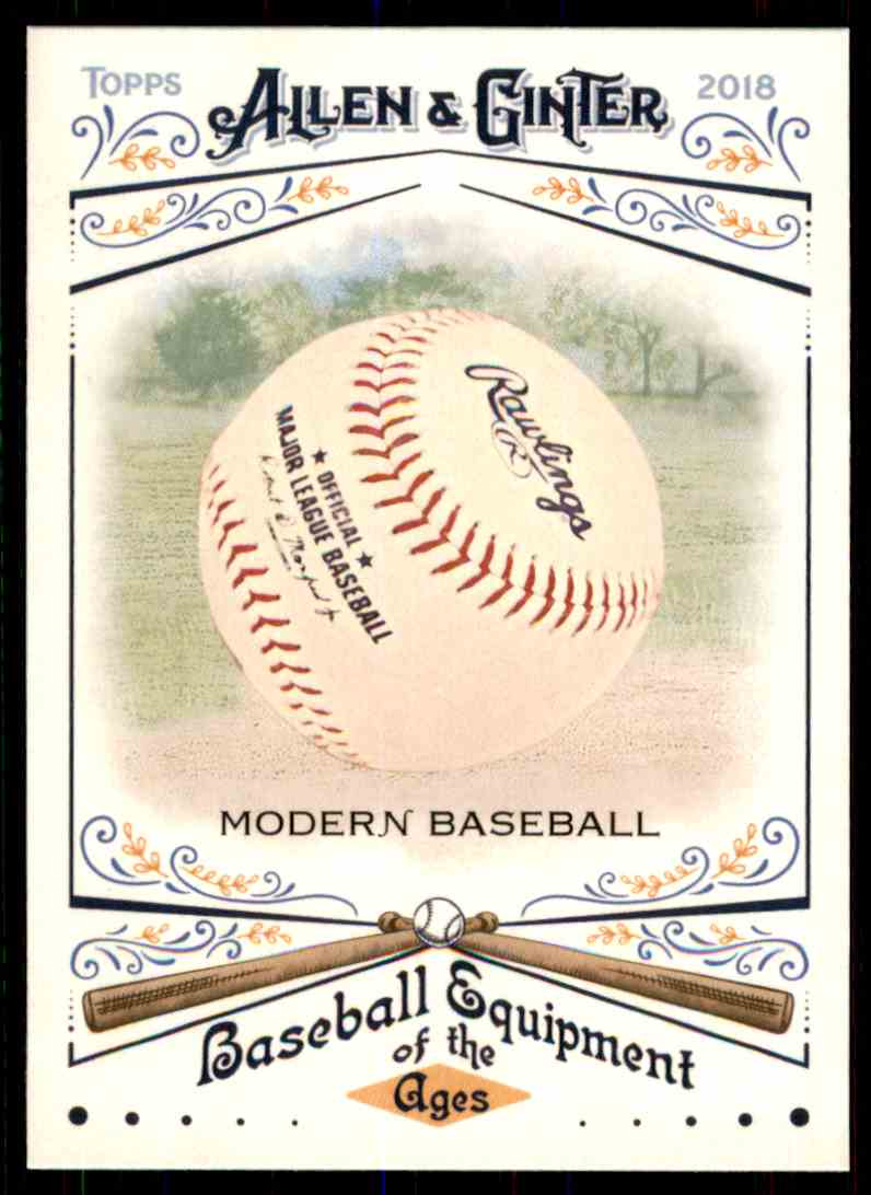 2018 Topps Allen & Ginter Equipment Of The Ages Modern Baseball #BEA-12 card front image