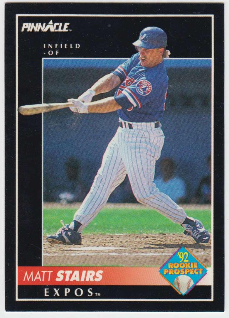 1992 Pinnacle Matt Stairs #583 card front image