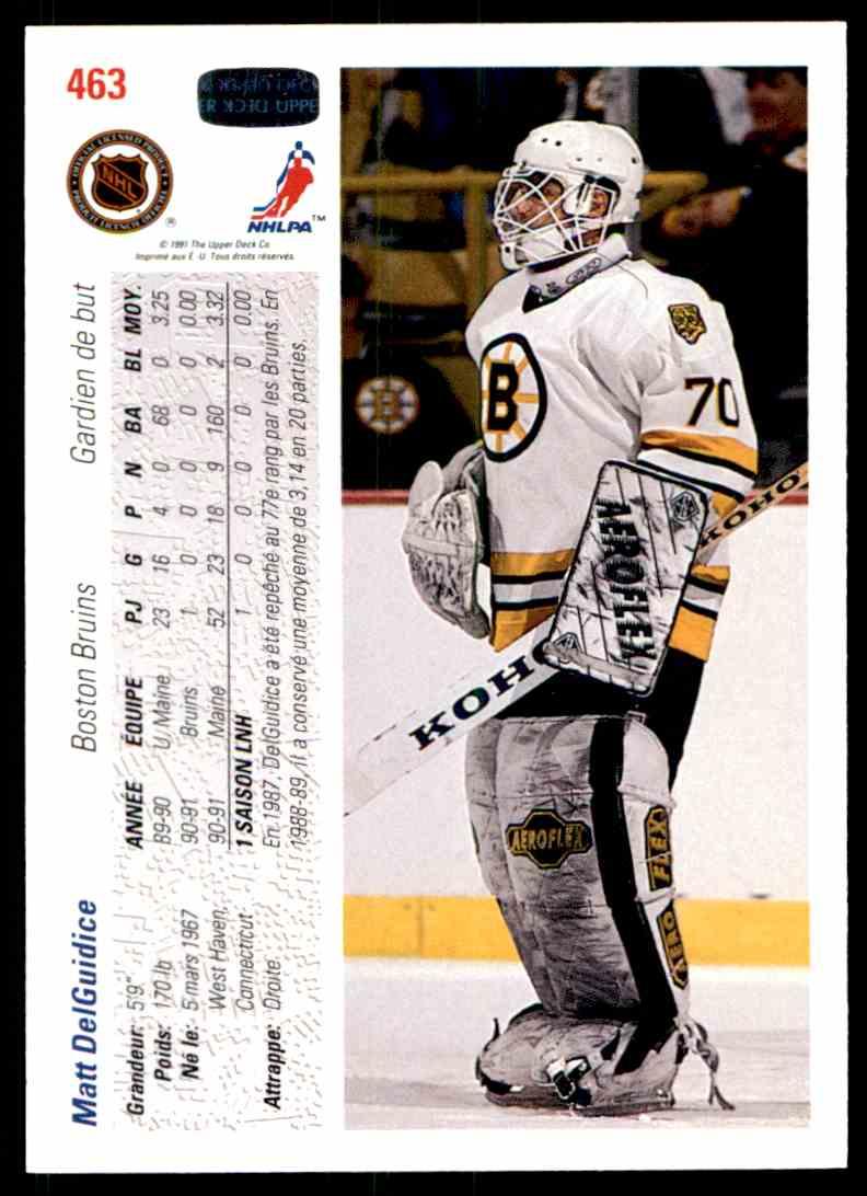 1991-92 Upper Deck French Matt Delguidice #463 card back image
