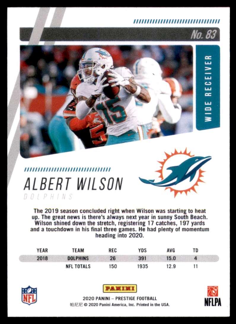 2020 Prestige Albert Wilson #83 card back image
