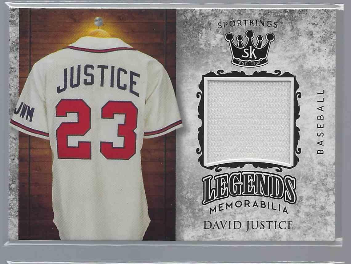 2018 Sportkings Legends Memorabilia David Justice #LSM-9 card front image