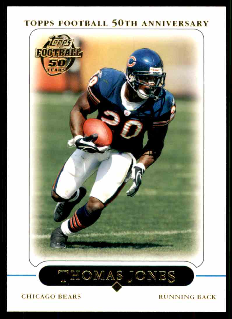 2005 Topps Thomas Jones #218 card front image