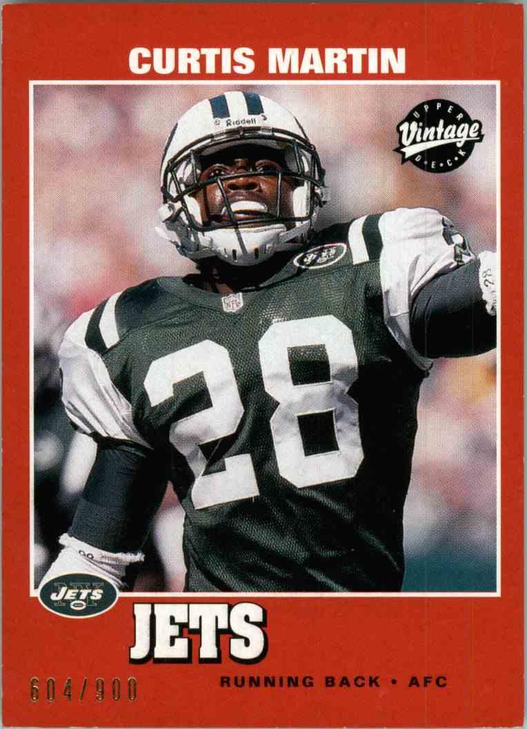 2001 Upper Deck Vintage Curtis Martin #70 card front image
