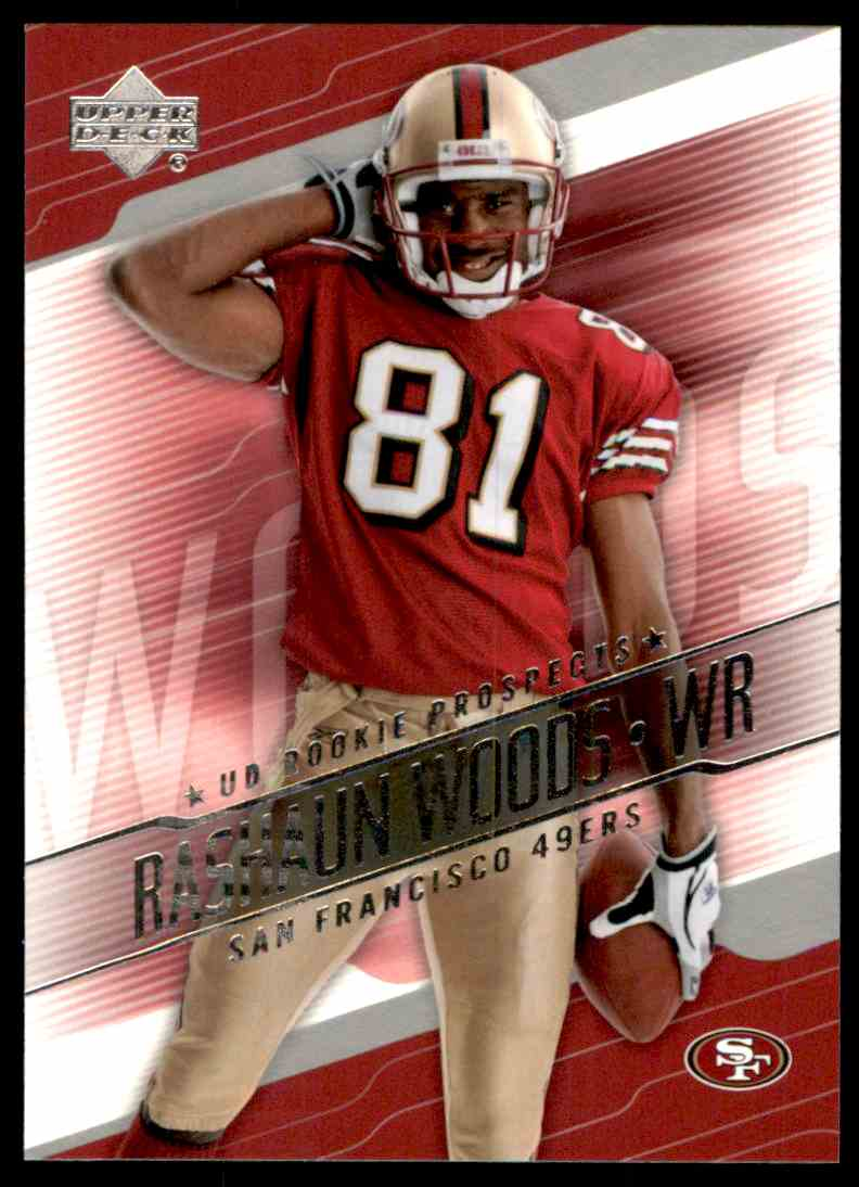 2004 Upper Deck Rookie Prospects Rashaun Woods #RPRA card front image