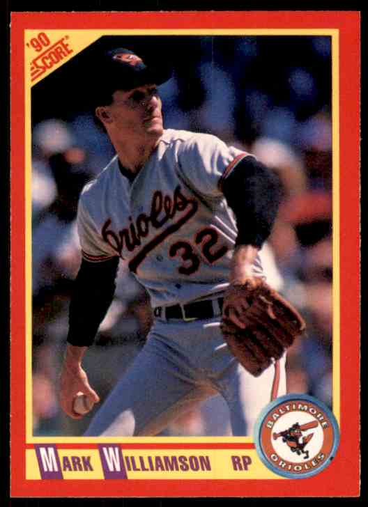 1990 Score Mark Williamson #332 card front image