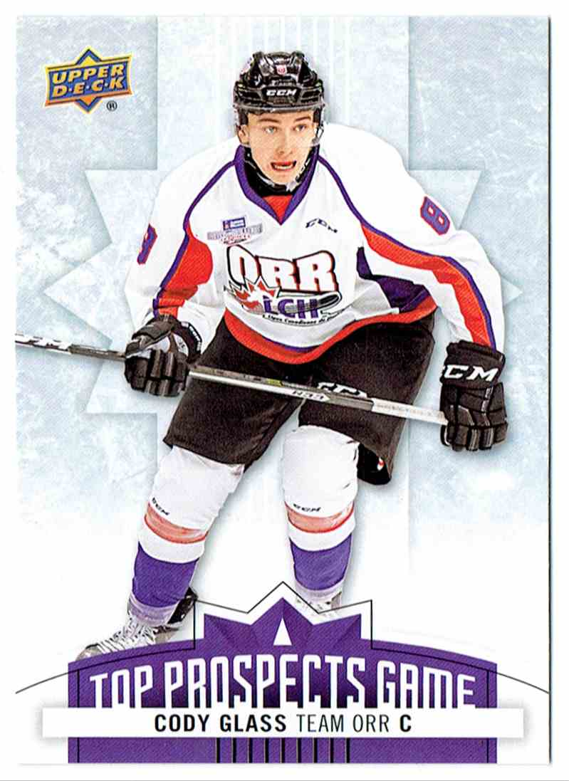 2017-18 Upper Deck UD CHL Top Prospects Game Cody Glass #TP10 card front image