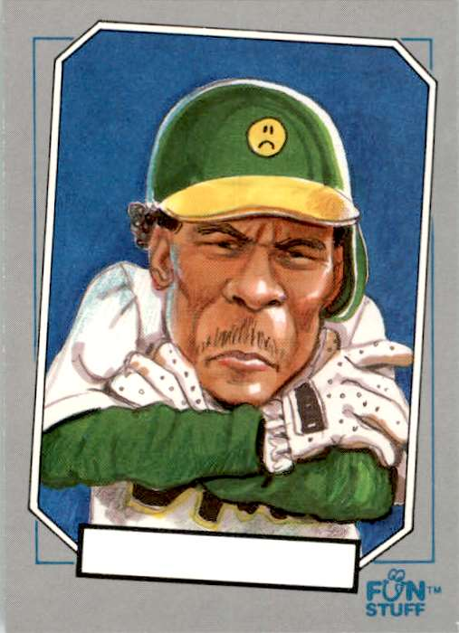 1992 Confex Baseball Enquirer Rickey Henderson #34 card front image