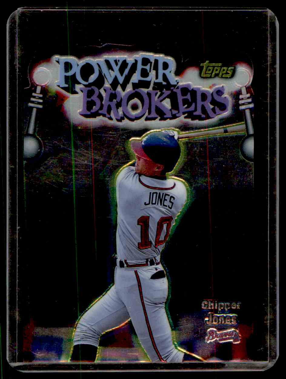 1999 Topps Power Brokers Chipper Jones #PB16 card front image