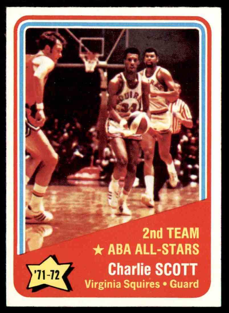 1972-73 Topps Charlie Scott #258 card front image