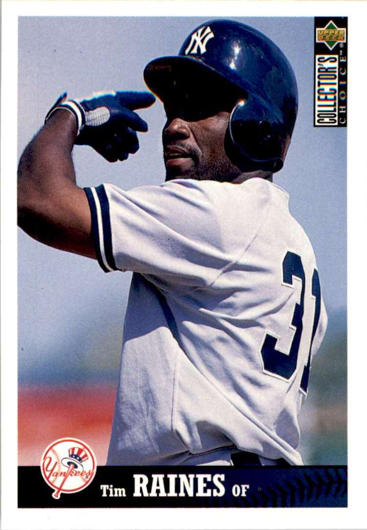 1997 Upper Deck Collector's Choice Tim Raines #182 card front image