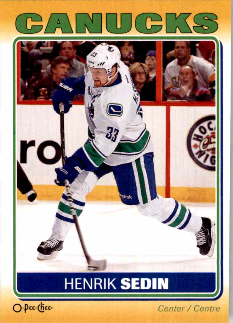 2012-13 O-Pee-Chee Stickers Henrik Sedin #S-91 card front image
