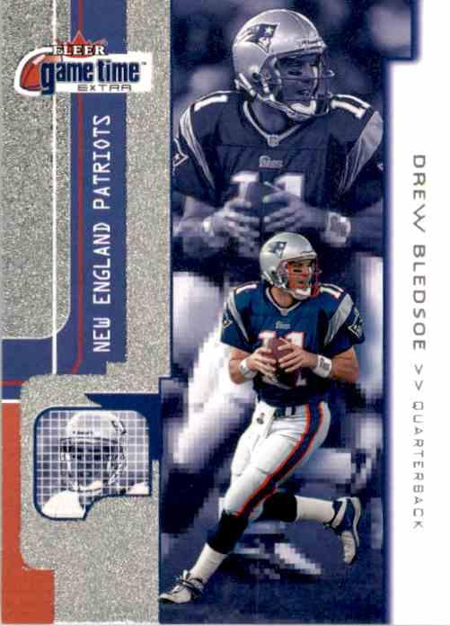 2001 Fleer Game Time Extra Drew Bledsoe #91 card front image