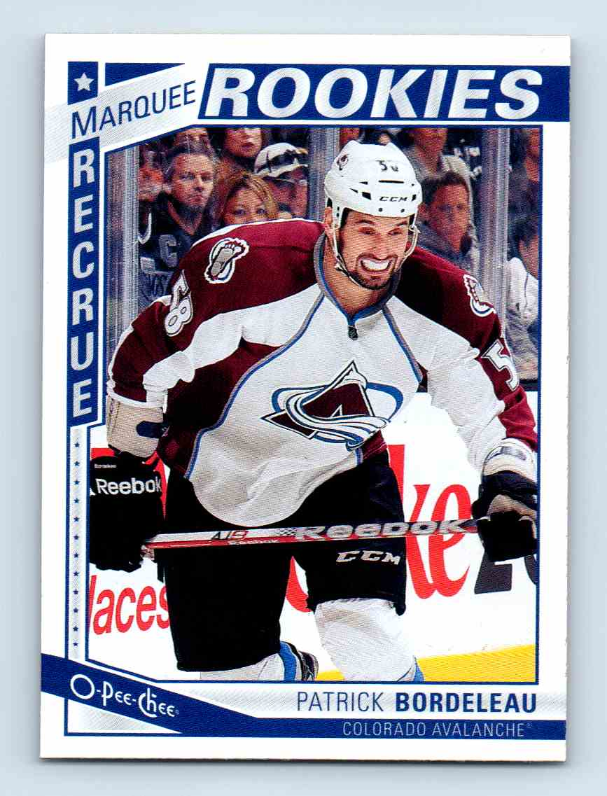 2013-14 O-Pee-Chee Marquee Rookies Patrick Bordeleau #541 card front image