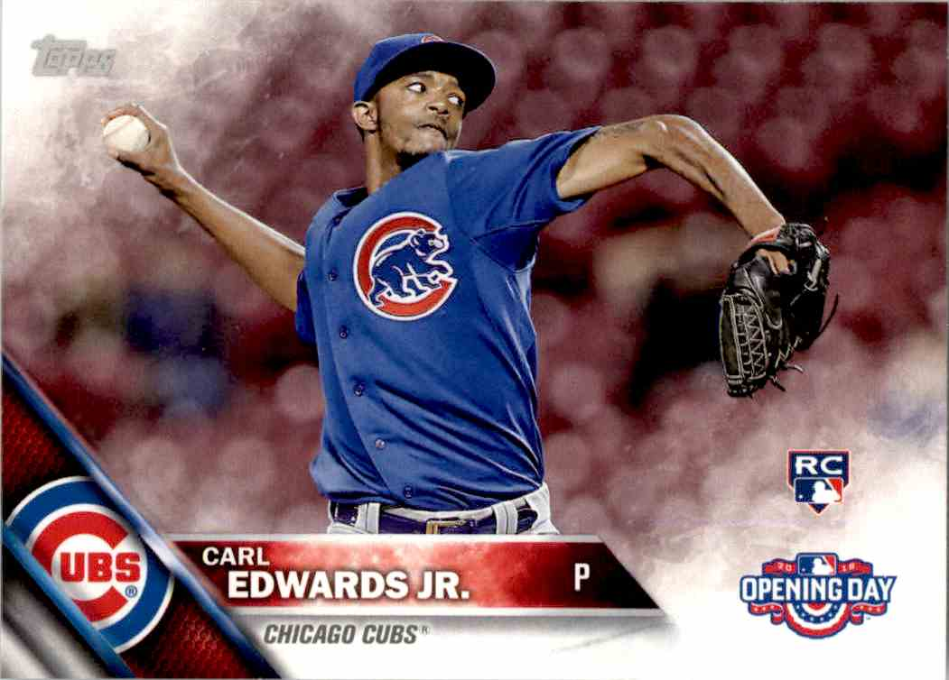 2016 Topps Opening Day Carl Edwards JR. RC #OD-46 card front image