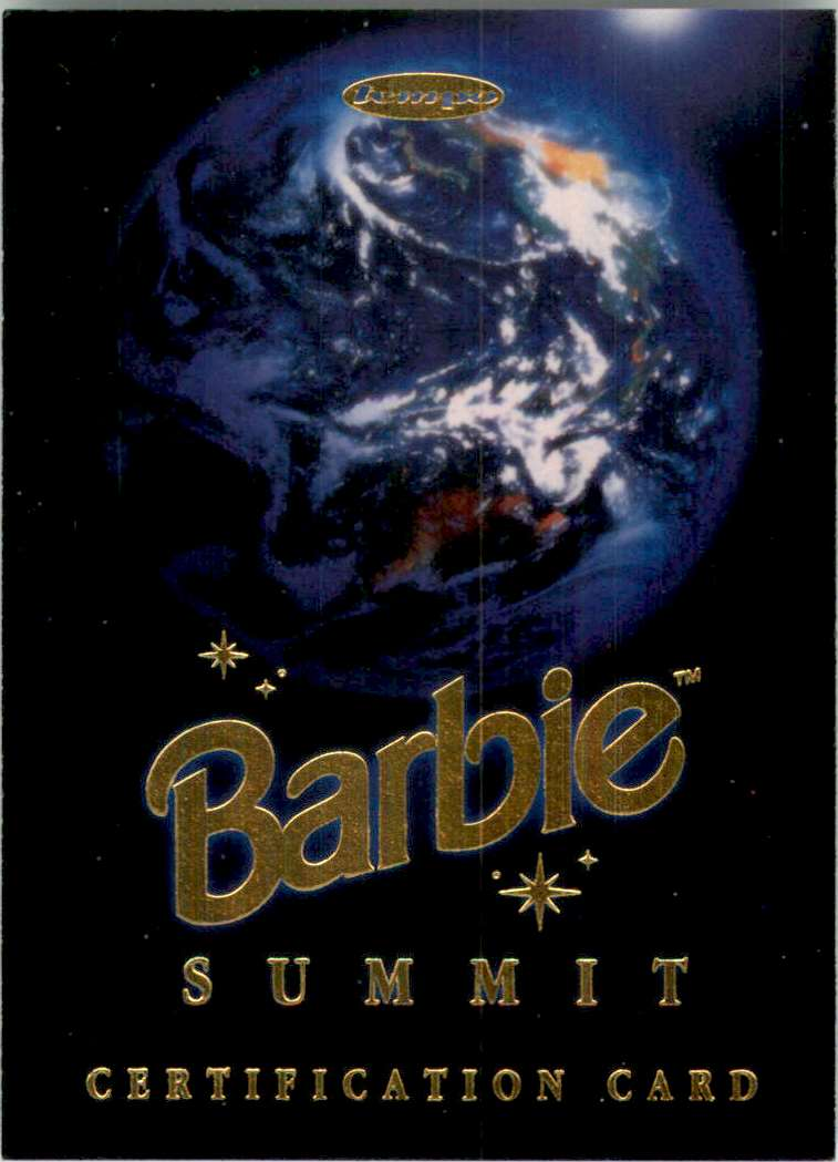 1997 World Of Barbie Summit Redemption Series Summit Certification #SCC1 card front image