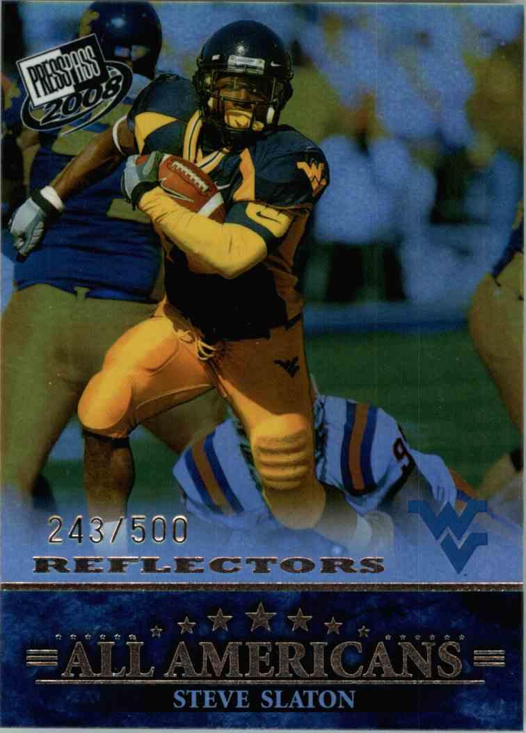 2008 Press Pass Steve Slaton #87 card front image