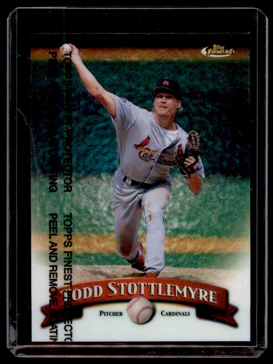 1998 Finest Refractor Todd Stottlemyre #255 card front image
