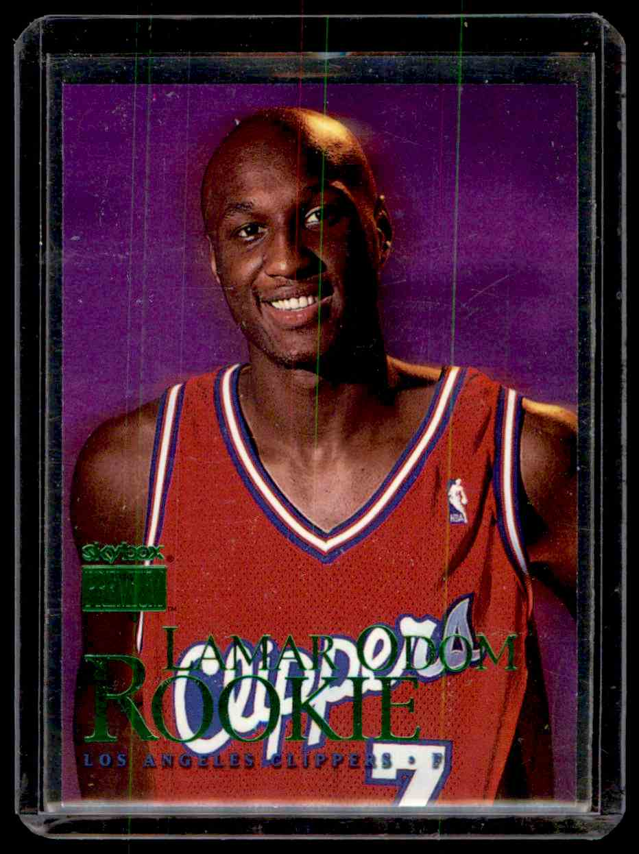 1999-00 Skybox Premium Lamar Odom #104 card front image