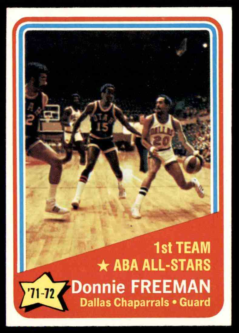 1972-73 Topps Donnie Freeman #252 card front image