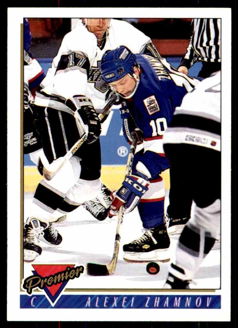 1993-94 Topps Premier Alexei Zhamnov #420 card front image