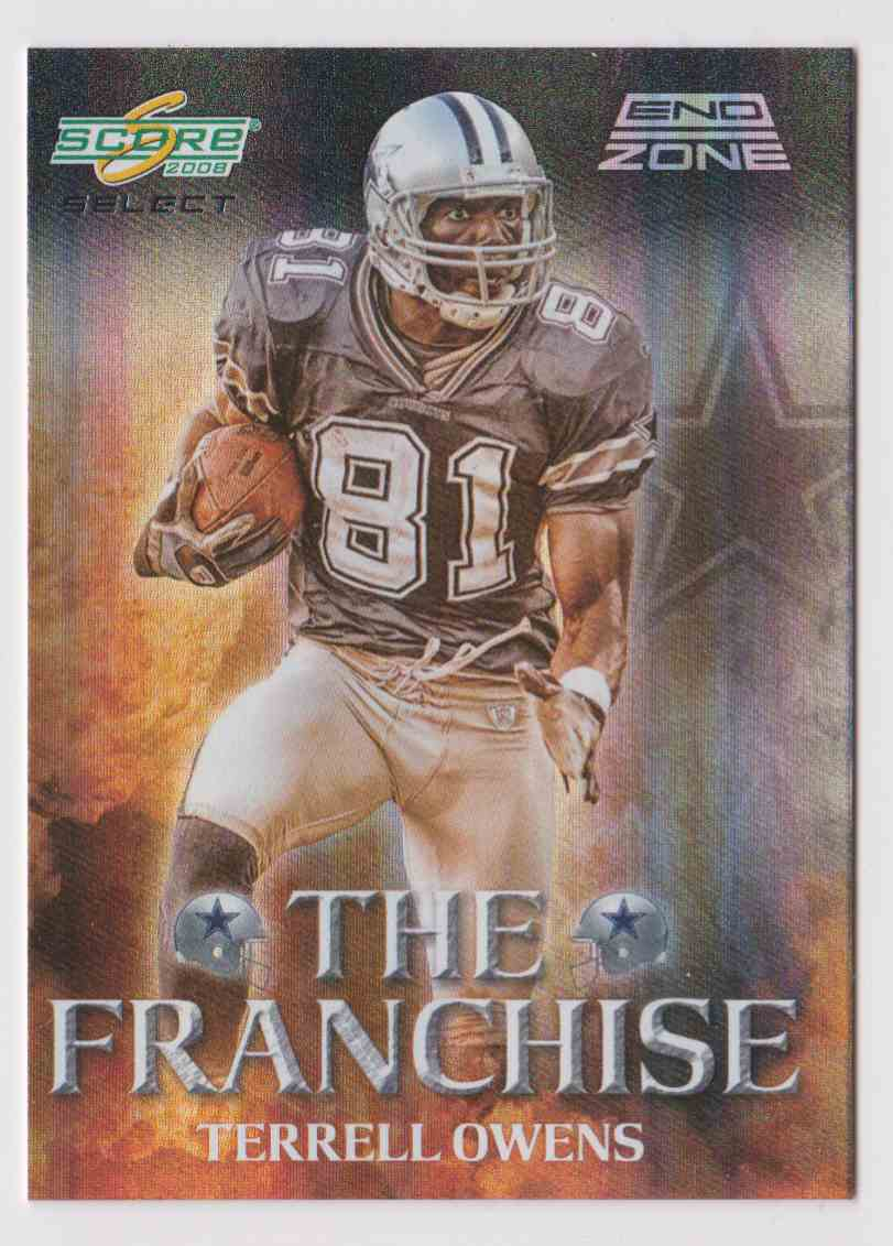 2008 Score The Franchise End Zone Terrell Owens F 5 Card Front Image