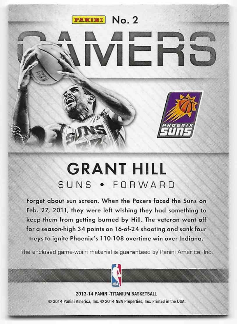 2013-14 Panini Titanium Gamers Grant Hill #2 card back image