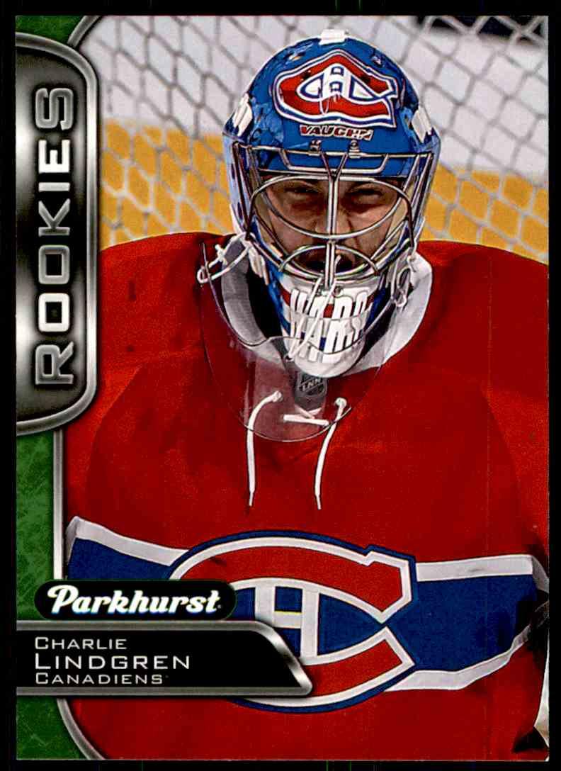 2016-17 Parkhurst Rookies Charlie Lindgren #345 card front image