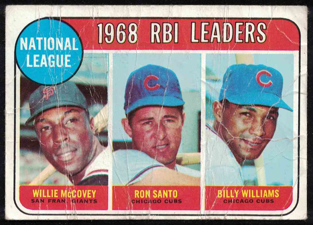 1969 Topps RBI Leaders Mccovey, Williams -Poor #4 card front image