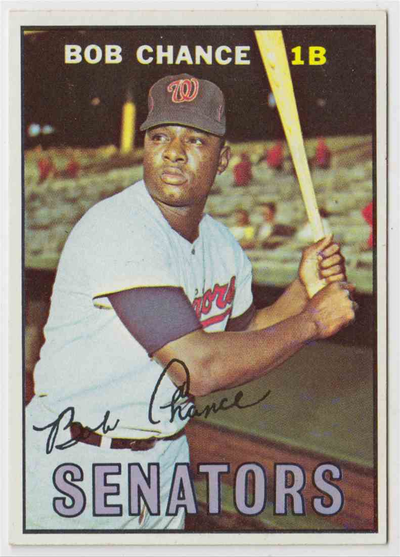 1967 Topps Bob Chance #349 card front image
