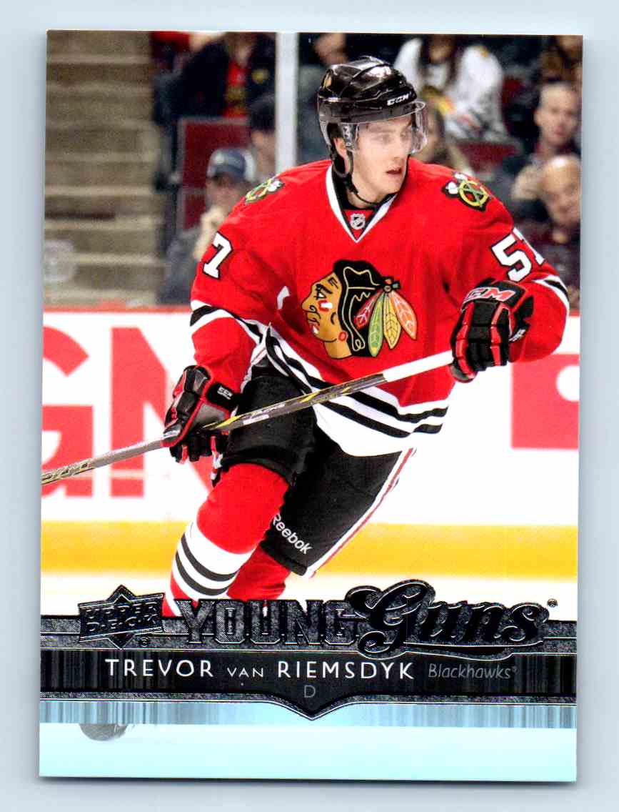 2014-15 Upper Deck Young Guns Trevor Van Riemsdyk #215 card front image