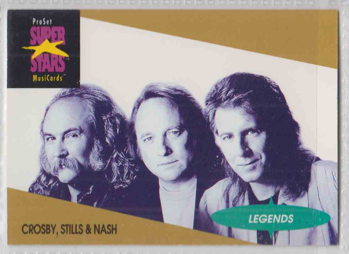 1991 Pro Set SuperStars MusiCards Crosby, Stills & Nash #4 card front image