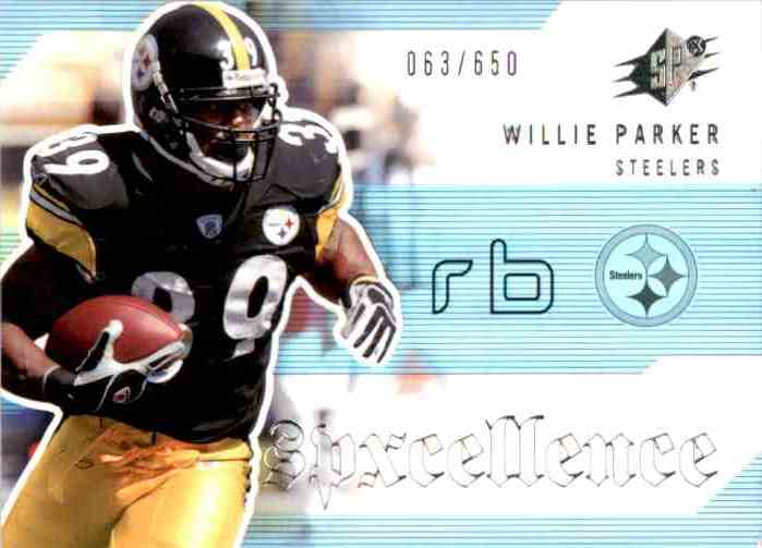 2006 SPx SPxcellence Willie Parker #SP-WP card front image