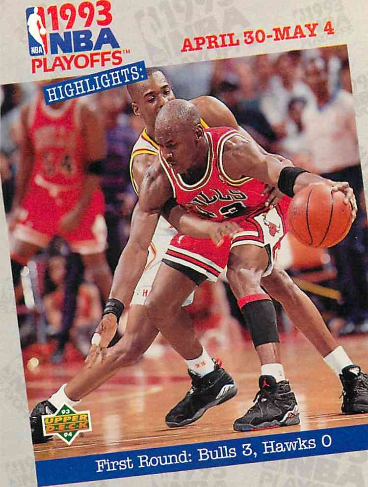 1993-94 Upper Deck Highlights Michael Jordan #180 card front image
