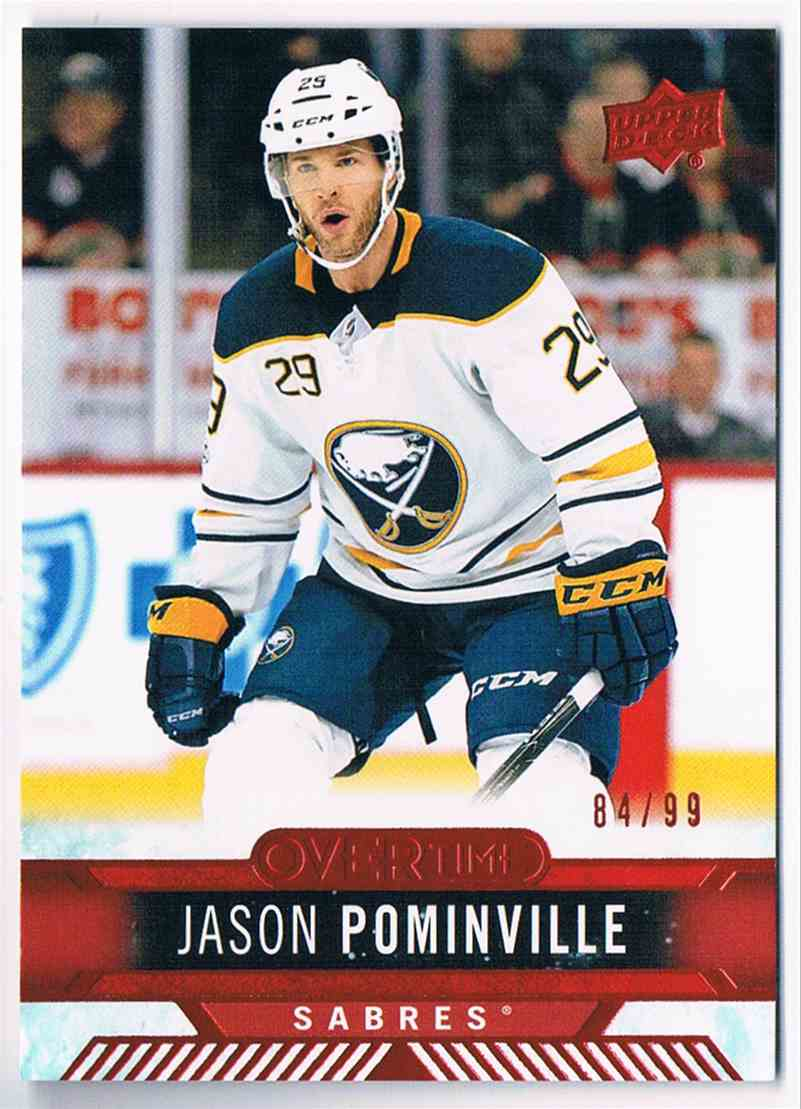 2017-18 Overtime Red Jason Pominville #126 card front image