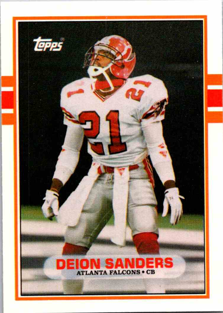1989 Topps Traded Deion Sanders #30T card front image