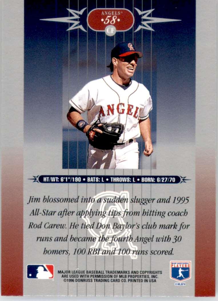 1996 Leaf Limited Jim Edmonds #58 card back image