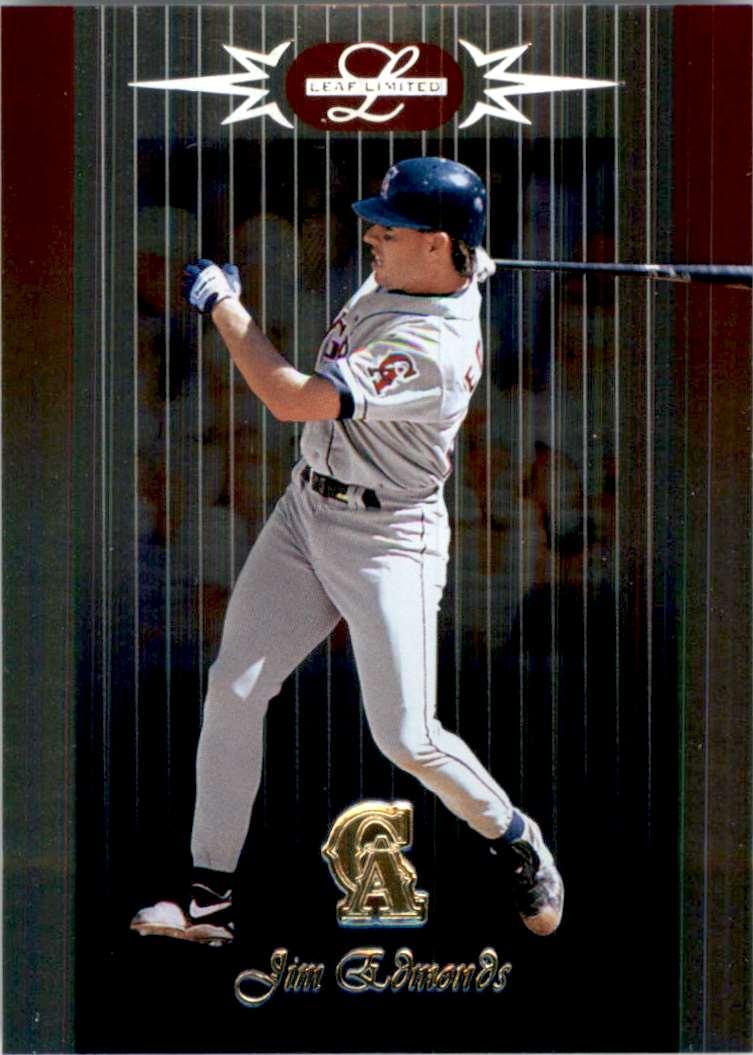 1996 Leaf Limited Jim Edmonds #58 card front image