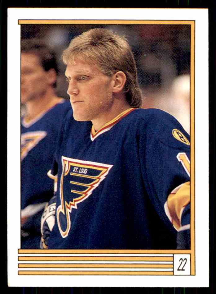 1989-90 O-Pee-Chee Stickers Brett Hull #22 card front image