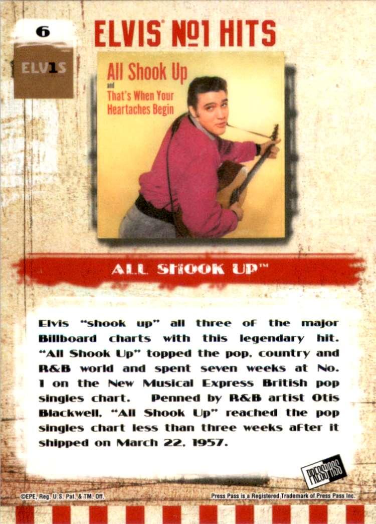 2007 Elvis The Music All Shook Up #6 card back image